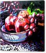 Poms In A Bowl Canvas Print