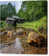 Pond At Mabry Mill Canvas Print