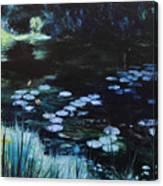 Pond At Port Meirion Canvas Print