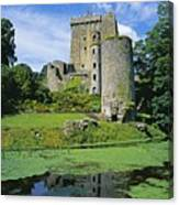 Pond In Front Of A Castle, Blarney Canvas Print