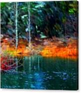 Pond In The Woods Canvas Print