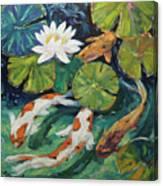 Pond Swimmers Koi Canvas Print