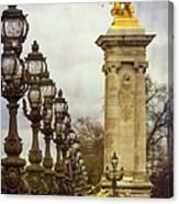 Pont Alexandre IIi Paris Canvas Print