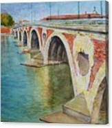 Pont Neuf Sur La Garonne At Toulouse Canvas Print