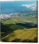Ponta Delgada And Lagoa Canvas Print