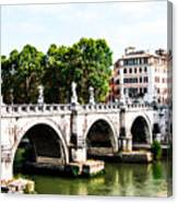 Ponte Saint' Angelo, Rome Canvas Print