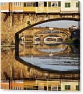 Ponte Vecchio Crossing The River A Canvas Print