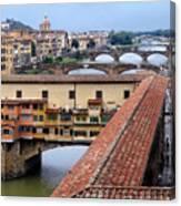 Ponte Vecchio From Uffizi                Canvas Print