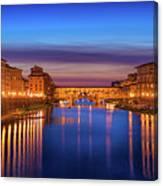 Ponte Vecchio Nigth Panorama Canvas Print