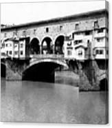 Ponte Vicchio Bridge In Florence Italy - C 1905 Canvas Print