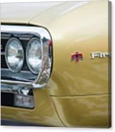 Pontiac Firebird Gold 1967 Canvas Print