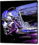 Pontiac Indian Head Hood Ornament Canvas Print