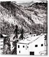 Pontresina Black And White Canvas Print