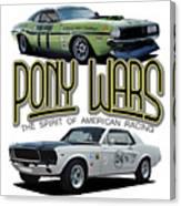 Pony War Classics Canvas Print
