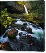 Ponytail Falls With Autumn Foliage Canvas Print