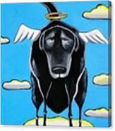 Poo Dog Goes To Heaven Canvas Print