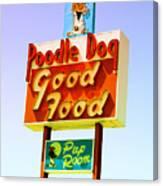 Poodle Dog Diner Canvas Print