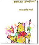 Pooh   Cute Love Quotes Canvas Print
