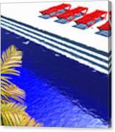 Pool Deck Canvas Print