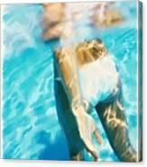 Pool Lady Canvas Print