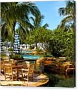 Pool Paradise Canvas Print