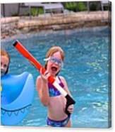 Pool Party Invite Canvas Print
