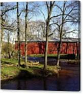 Poole Forge Covered Bridge Canvas Print