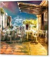 Poolside Bar Canvas Print