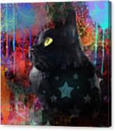 Pop Art Black Cat Painting Print Canvas Print