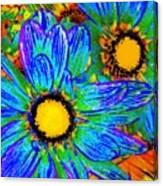 Pop Art Daisies 4 Canvas Print