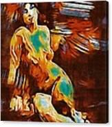 Pop Art Female Study 1d Canvas Print