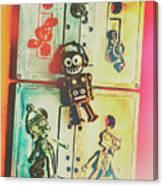 Pop Art Music Robot Canvas Print