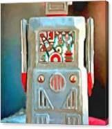 Pop Art Robot R-1 Canvas Print