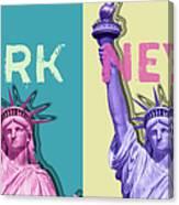Pop Art Statue Of Liberty - New York New York - Panoramic Canvas Print