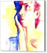 Pop Art Woman Portrait Canvas Print