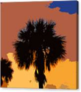 Pop Palms Canvas Print