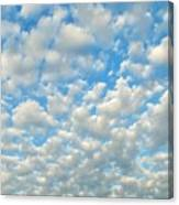 Popcorn Clouds Canvas Print