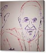 Pope Francis Waves Canvas Print