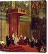 Pope Pius Vii Luigi Barnaba Chiaramonti Attending Chapel 1820 Canvas Print