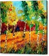 Poplars '459070 Canvas Print