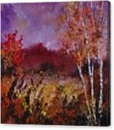 Poplars In Autumn  Canvas Print
