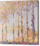 Poplars On The Banks Of The Epte Canvas Print