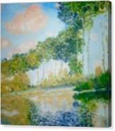 Poplars On The Epte Claude Monet Canvas Print