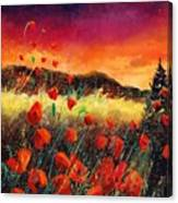 Poppies At Sunset 67 Canvas Print