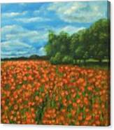 Poppies Field Original Painting Canvas Print