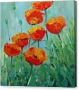 Poppies For Sally Canvas Print