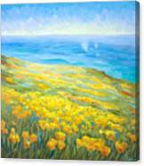 Poppies Greeting Whales Canvas Print