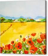 Poppies In Alentejo Canvas Print