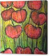 Poppies In Oil Canvas Print
