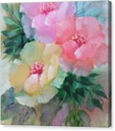 Poppies In Pastel Colors Canvas Print